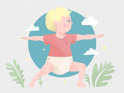 Baby yoga 1 illlustration