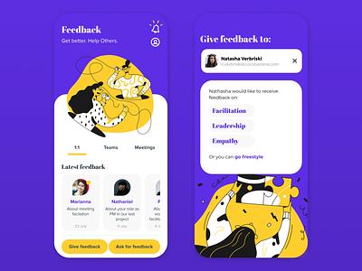 Feedback App Concept mobile ui app mobile