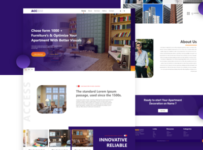 ACCESS - Isometric Apartment web design.
