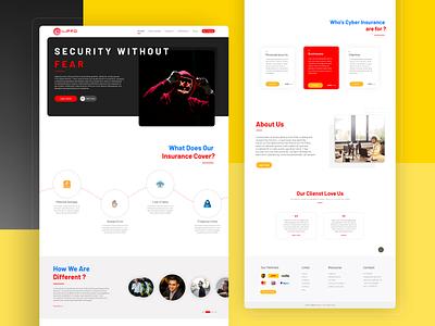 Cyber Security website 2 top designer cool design website design webdesign design 2020 clean website landing page ui landingpage creative design ux ui uxdesign