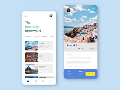 Tour Planing app - 2 travel app travel tour guide tour app fresh color 2020 design clean creative ui creative design uxdesign ux
