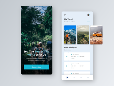 Tour Planing app app design tourist travel app design travel tour design 2020 website clean adobexd landingpage creative creative design ui ux