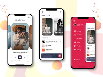 Music app - 2 iphone apple apple deisgn ux design concept 2020 clean adobexd creative application cool music app trend app app design app ui design ux ui creative design appdesign app