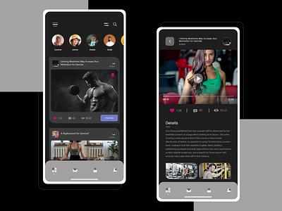 Social media app design concept creative adobexd ui design uidesign socialmedia news app app design uiux ui news gym app gym