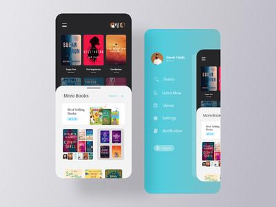 App design for selling books creative blue all design top designer app design branding book trend design 2020 color clean landing page ui adobexd concept creative design ui