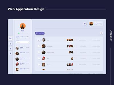 Web application design dashboard app design web app massage webdesign web application application webui design creative 2020 clean adobexd concept uxdesign creative design ux ui