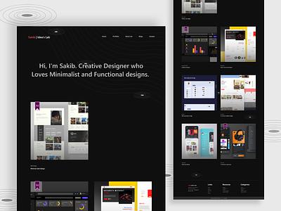 Portfolio website design creative portfolio design portfolio landing page ui landingpage color clean adobexd uxdesign concept creative design ui ux