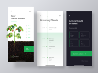 App for growing plants clean adobexd creative design 2020 uxdesign concept creative design ux ui