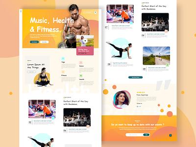 Fitness web ui design trend design top design best designer 2020 trend website builder fit uiux ui webdesign dance gym yoga fitness website fitness app training events music health fitness
