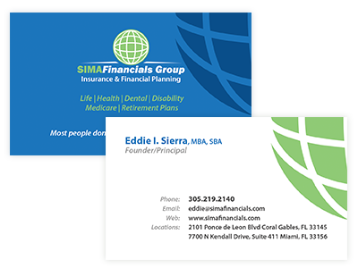 SFG Business Cards business cards financial insurance