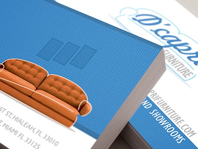 Furniture Store business cards sofa logo mockup