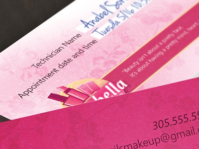 Nail Salon Business Cards nail salon business cards