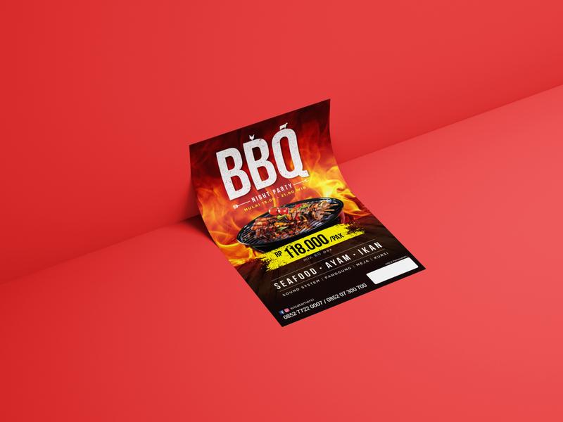 Flyer Design design illustration restaurant medan indonesia graphic design flyer flyer designs advertising barbeque design