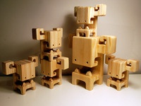 "BOOSO's - 7"" & 4"" Wood Toys by Pepe"