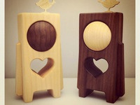 "HEARTWOODS - 3.5"" Wood Toys by pepe"