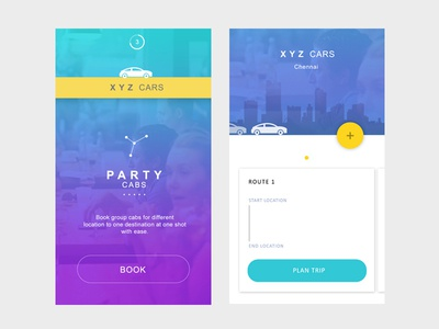 Partycabs - Concept app to book multiple chain of cabs