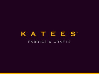 Katees™ Fabrics & Crafts identity branding simple logo identity branding clean minimal kate crafts fabrics