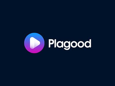 Plagood Logo music logo music wordmark music icon application music app ios app app music