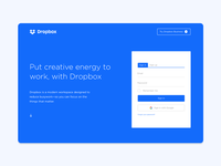 Dropbox Landing Page Redesign
