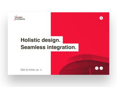 Vorsten Architects Web Design website design architecture website architects user interface ui design ui website redesign webdesign website