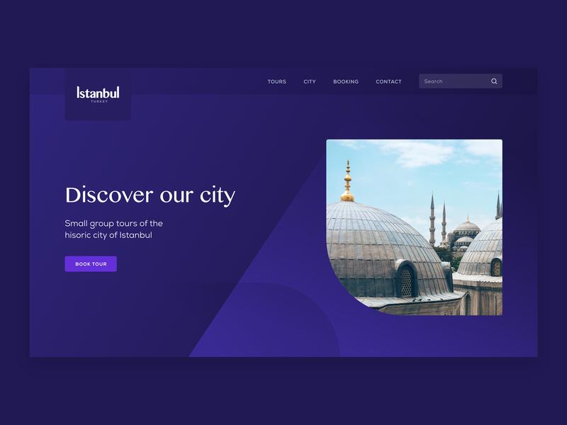 Istanbul Tours Website desktop design interface user experience uiux app hero website application website app web app booking app booking purple web design website design website concept