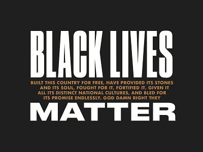 Black Lives Matter poster typography blm george floyd black lives matter