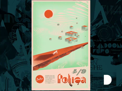 Poliça Poster Sacramento 2013 Motion Graphic stippling color design gigposter illustration typography sacramento gigposters poster motion design airbrush music indie music concert posters posters indie rock polica