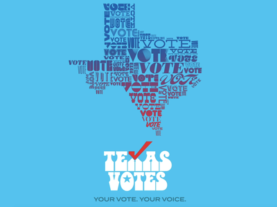 Texas Votes Motion Graphic voter get out the vote vote typography art typogaphy typographic motion design headcount texas logo graphic dribbble color music illustration typography poster