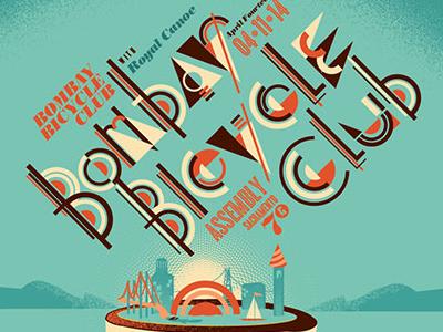 Bombay Bicycle Club—Gigposter bombay bicycle club gigposter gigposters poster posters typography