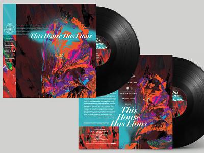 This House Has Lions - Vinyl Record jazz digital design typography illustration record cover record vinyl malmberg sacramento
