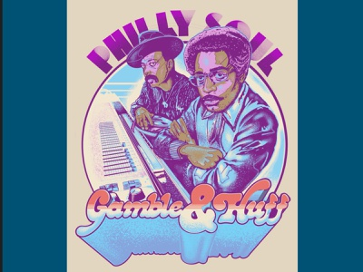 Gamble and Huff disco philly soul philadelphia design illustration typography gigposters posters gigposter poster