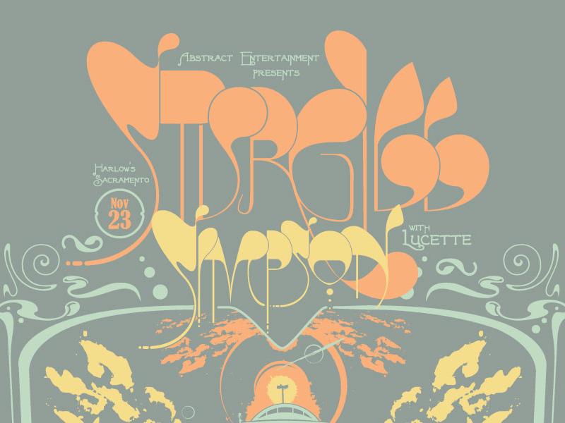 Sturgill Simpson Gigposter - Designed to flip 180° gigposter gigposters poster posters typography illustration