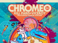 Poster Design / Illo for SF NYE Event w/ Chromeo