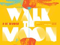 Walk the Moon 18x24 Screenprinted Gigposter