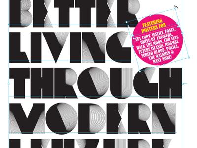 Better Living Through Modern Lehzure poster typography gigposters