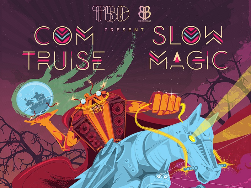 TBD Presents Bleepy Hollow Poster slow magic com truise typography gigposter tbd