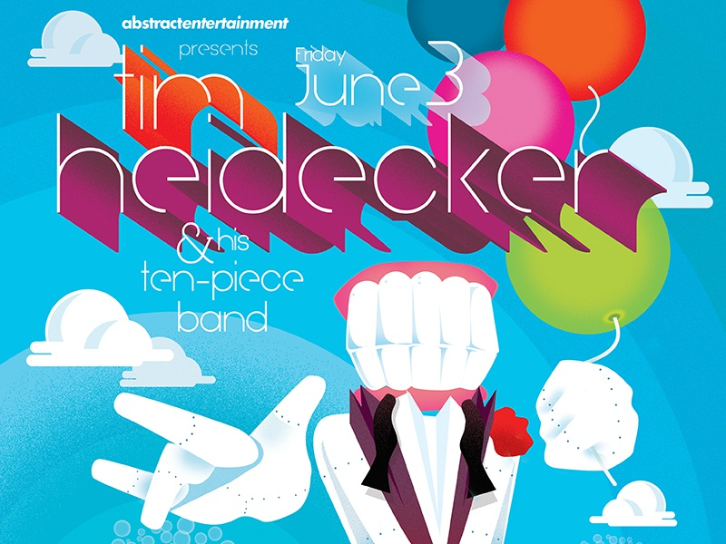 Tim Heidecker & His Ten-Piece Band Gigposter gigposter poster airbrush tarkus sacramento tim and eric tim heidecker