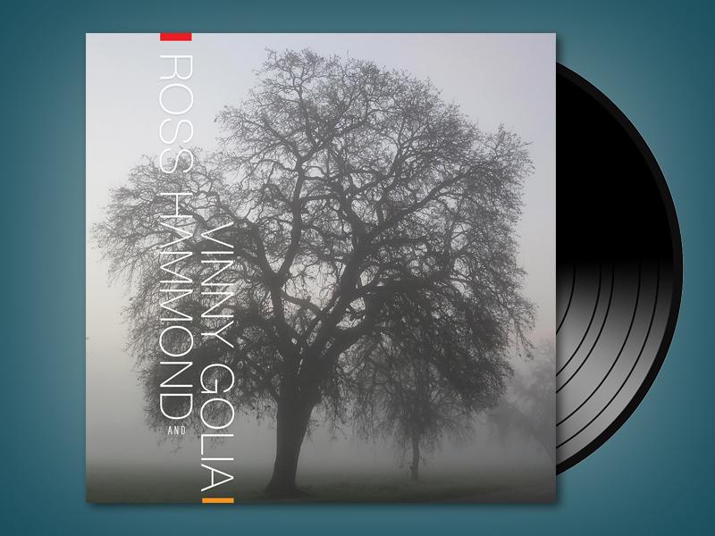 Ross Hammond & Vinny Golia album cover minimal album cover sacramento jazz