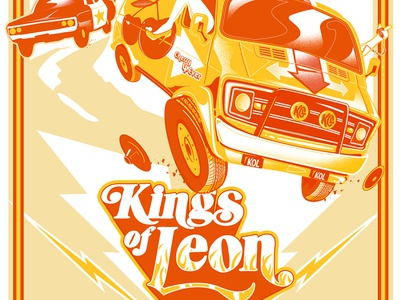 Kings of Leon - Screenprinted Gigposter New Jersey 2017 posters poster movies cars kings of leon gigposter