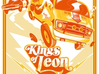 Kings of Leon - Screenprinted Gigposter New Jersey 2017