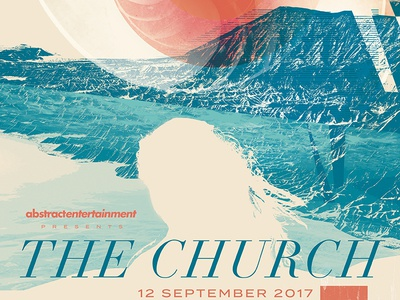 The Church - Gigposter - Sacramento 2017 posters poster gigposters gigposter the church sacramento