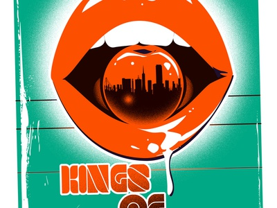Kings of Leon - Poster - Shoreline 2017 screenprint vhs posters poster gigposters gigposter
