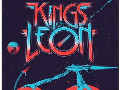 Kings of Leon - Poster - The Gorge 2017 screenprint posters poster gigposters gigposter seattle the gorge kings of leon