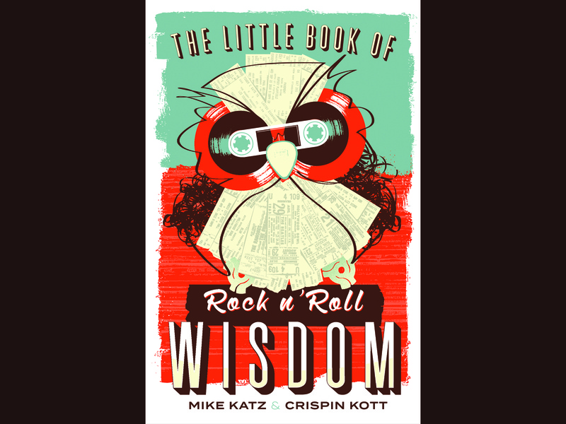 Cover Illustration -  The Little Book of Rock n Roll Wisdom owls music rock and roll color graphic type illustrations illustration design typography