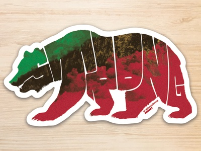 California Strong Sticker northern california graphic  design bear color dribbble typogrpahy illustration design camp fire california fires california