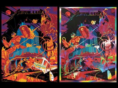 Metallica Poster - Sacramento 2018 dribbble color graphic screenprint design music illustration sacramento gigposters posters gigposter poster