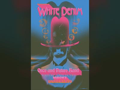White Denim gigposter for Sacramento - 04/24/19 surreal trippy retro vintage psychedelic digital art vector dribbble graphic color design music typography illustration sacramento gigposters poster posters gigposter