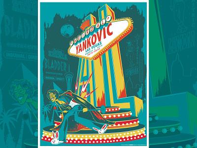 """Weird Al"" Yankovic Las Vegas Gigposter weird al yankovic weird al digital art vector screenprint graphic dribbble color music design illustration typography sacramento gigposters posters poster gigposter"