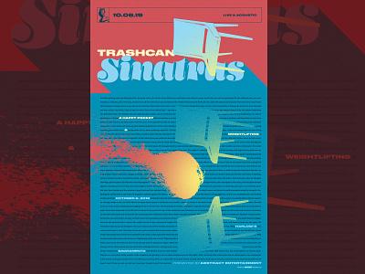 Trashcan Sinatras Gigposter Sacramento design illustration typography sacramento gigposters posters poster gigposter