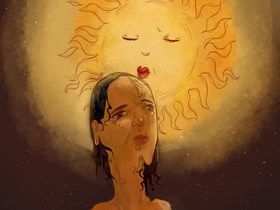 Sunkissed digital illustration autodesk sketchbook illustration